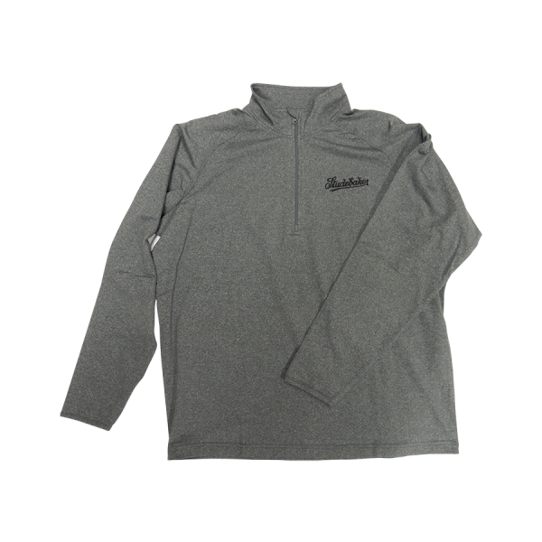 Gray 1/4 Zip Pull-Over